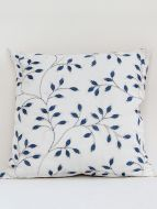 Pecan Designer Blue embroidered Cushion Cover