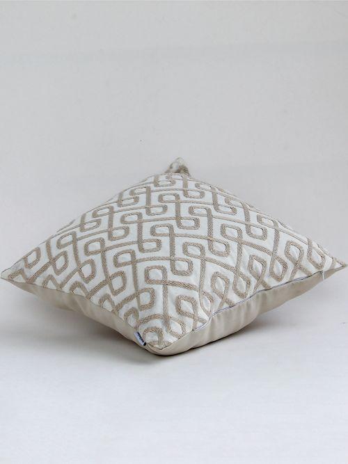 creme de la creme embroidered cushion cover