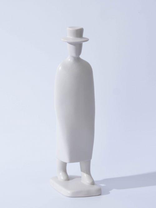 Ceramic Fedora Decorative Object