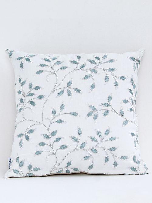 Iris designer Aegean embroidered cushion cover