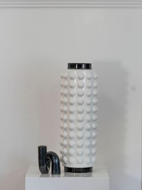 Luxe Ceramic Vase White