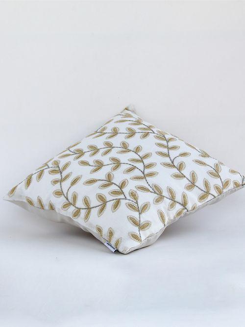 Osage Designer Tawny Embroidered Cushion Cover