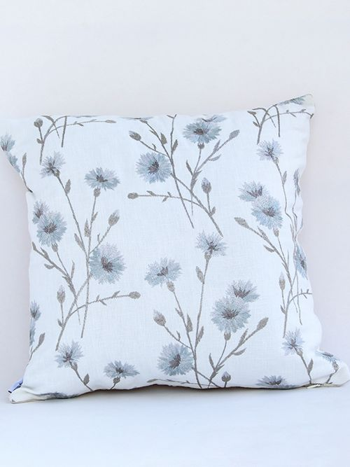 serein blanche embroidered cushion cover