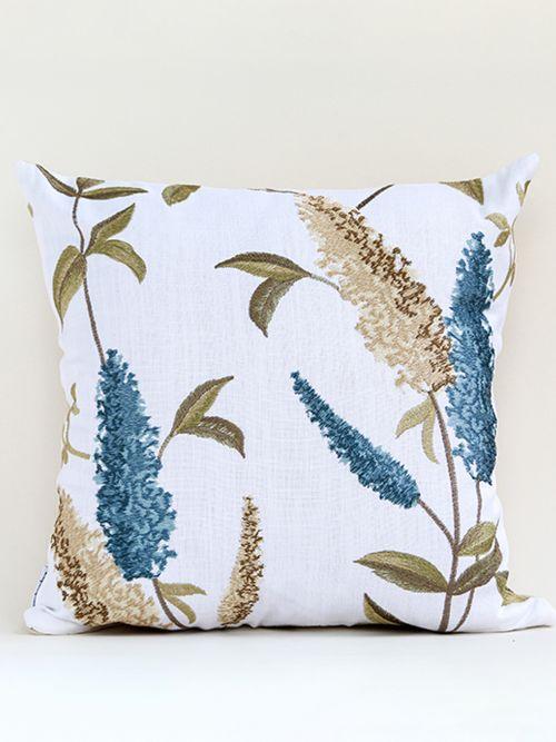 whitish blue designer cushion cover