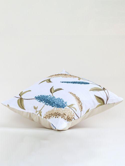 whitish blue designer sofa cushion cover