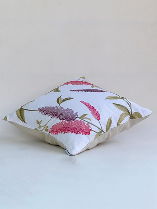 whitish purple designer cushion cover